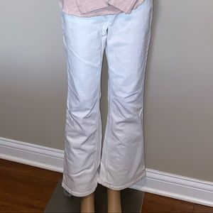 White denim jeans.